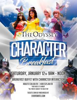 Character Breakfast Buffet at The Odyssey - Tinley Park
