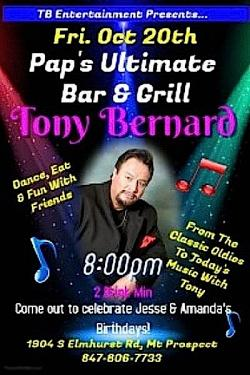 Tony Bernard Live at Pap's Ultimate Bar & Grill