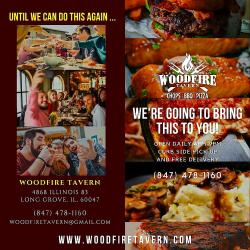 Curbside Pickup & Free Delivery at Woodfire Tavern in Long Grove