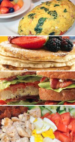 Savoury Restaurant & Pancake Cafe delicious breakfast and lunch selections