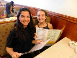 Friends enjoying lunch at Annie's Pancake House in Skokie