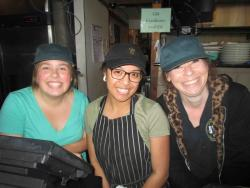 Friendly staff at Backyard Grill in Chicago