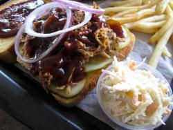 The Memphis pulled pork sandwich at Billy Boy's Restaurant in Chicago Ridge