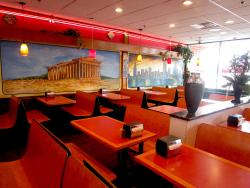 Spacious dining area at Brandy's Gyros in Des Plaines