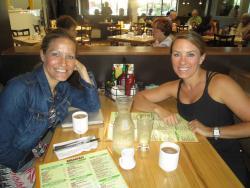 Friends enjoying breakfast at Butterfield's Pancake House in Oak Brook Terrace