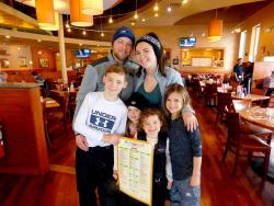 Family enjoying breakfast at Butterfield's Pancake House & Restaurant in Northbrook
