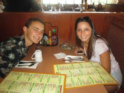 Couple enjoying lunch at Butterfield's Pancake House & Restaurant in Northbrook