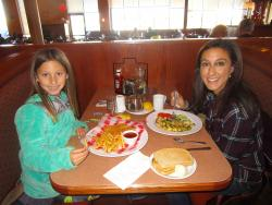 Mom and daughter enjoying lunch at Butterfield's Pancake House & Restaurant in Northbrook
