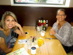 Friends enjoying breakfast at Butterfield's Pancake House & Restaurant in Oak Brook Terrace