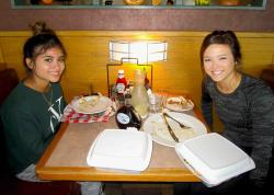 Friends enjoying breakfast at Butterfield's Pancake House & Restaurant in Naperville