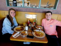 Couple enjoying lunch at Butterfield's Pancake House & Restaurant in Naperville