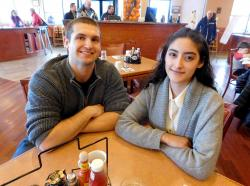 Couple enjoying breakfast at Butterfield's Pancake House & Restaurant in Northbrook