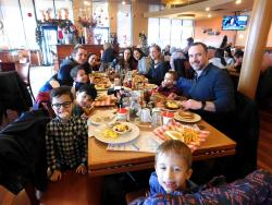 Families enjoying holiday dining at Butterfield's Pancake House & Restaurant in Northbrook