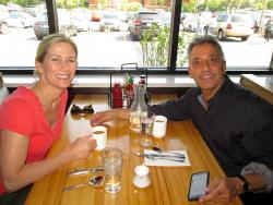 Couple enjoying breakfast at Butterfield's Pancake House & Restaurant in Oakbrook Terrace