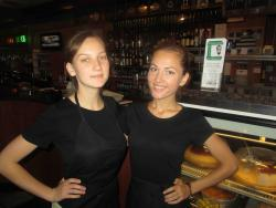 Friendly servers at Central Gyros in Chicago