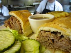 The piled-high French Dip at Christy's Restaurant & Pancake House in Wood Dale