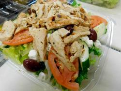 The popular Greek Salad at Craving Gyros in Lake Zurich
