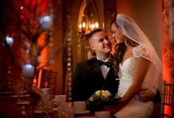 Couple enjoying their special day at D'Andrea Banquets & Conference Center in Crystal Lake