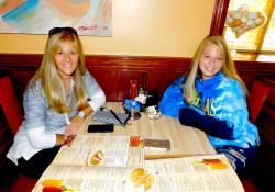 Mom & daughter enjoying lunch at Downers Delight Pancake House & Restaurant in Downers Grove