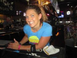 Friendly bar server at Draft Picks Sports Bar in Naperville