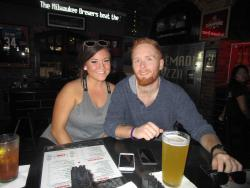 Couple enjoying lunch at Draft Picks Sports Bar in Naperville
