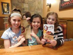 Sisters ready to enjoy breakfast at Savoury Restaurant & Pancake Cafe in Bartlett