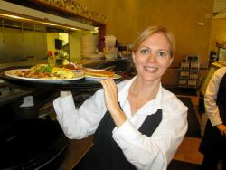 Friendly server at Egg Haven Pancakes & Cafe in DeKalb