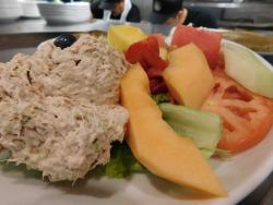 The Tuna & Fruit Plate at Eggs Inc. Chicago in Streeterville