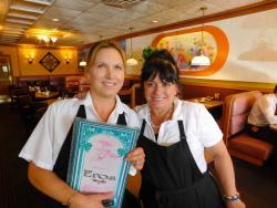Friendly staff at Eros Restaurant & Ice Cream Parlour in Arlington Heights