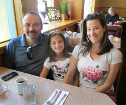 Family ready to order at Bentley's Pancake House and Restaurant