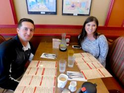 Couple enjoying lunch at Georgie V's Pancakes & More in Northbrook
