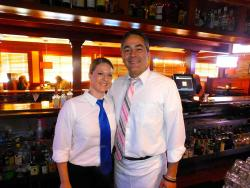 Friendly bar staff at Jameson's Charhouse in Arlington Heights