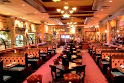The beautifully spacious dining room at Jimmy's Charhouse in Libertyville
