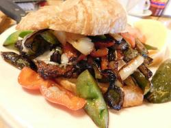 The famous Cajun Chicken Sandwich at Lumes Pancake House in Chicago