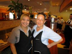 Friendly servers at Lumes Pancake House in Palos Heights