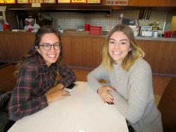 Friends enjoying lunch at Nick's Drive-In Restaurant in Chicago