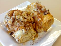 The famous Diples pastry at Papagalino Cafe & Pastry Shop in Niles