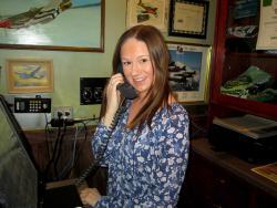 Friendly hostess at Pilot Pete's Restaurant in Schaumburg