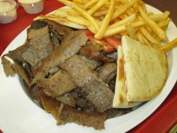 The famous Gyros Plate at Plush Pup in Chicago