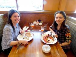 Friends enjoying breakfast at Savoury Restaurant & Pancake Cafe in Bartlett