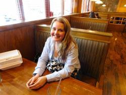 Loyal customer enjoying lunch at Savoury Restaurant & Pancake Cafe in Bartlett