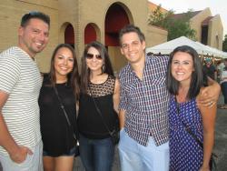 Friends enjoying The St. Nectarios Greekfest in Palatine