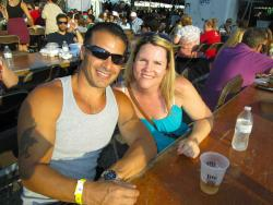 Couple enjoying the St. Nectarios Greek Fest in Palatine