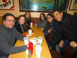 Loyal customers enjoying lunch at The Works in Glenview