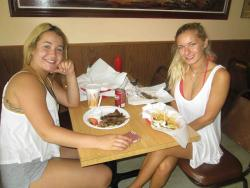 Friends enjoying lunch at The Works Gyros in Glenview