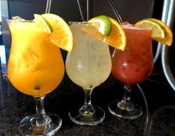Selection of tempting Margaritas at Xando Cafe in Hickory Hills