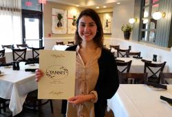 Friendly manager at Yanni's Greek Restaurant in Glenview