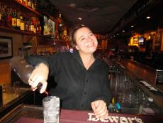 Friendly bar server at Andrew's Open Pit & Spirits in Park Ridge