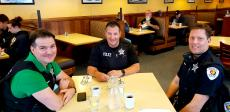 Police officers enjoying lunch at Annie's Pancake House in Skokie