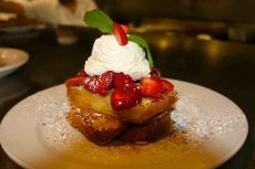 The strawberry french toast at Annie's Pancake House in Skokie